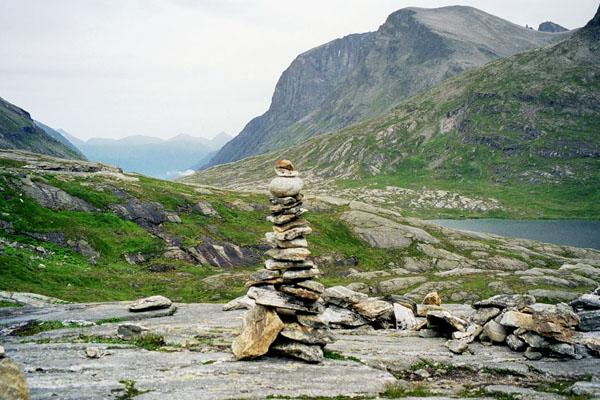 Plateau de stigrora avant la route des trolls norvège images de